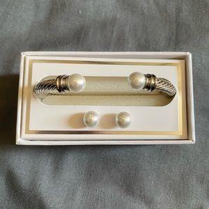 Kim Rogers Cuff Bracelet and Earrings Set